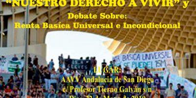 """Invitación a la proyección del documental """"RBUI: Nuestro derecho a vivir"""" en la Asocoación de Vecinos """"Andalucía"""" en San DiegoSevilla"""