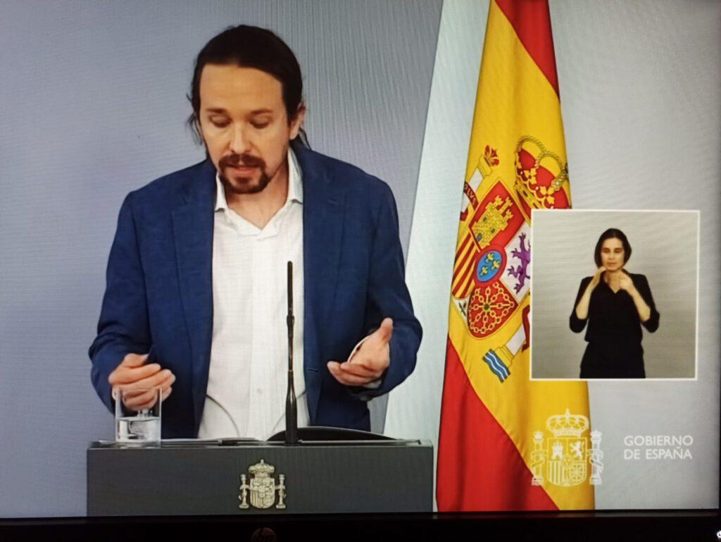Iglesias En la presentación del IMV